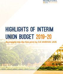 Highlights of Interim Union Budget 2019-20
